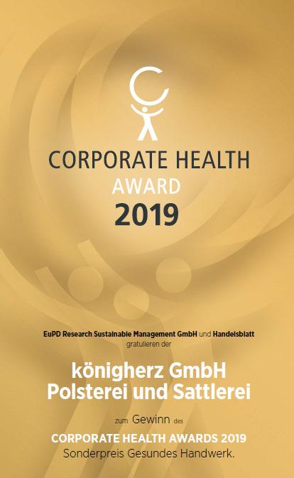 Corporate Health Award Siger Königherz